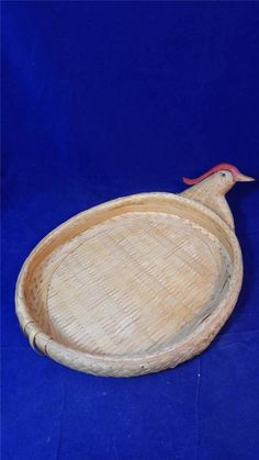 VTG Large Woven Chicken Basket Tray EUC #Unbranded