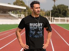 rugby tackle scrum ruck penalty rough Geschenk Männer Premium T-Shirt Running Belt For Phone, Rugby, Kobe Bryant Quotes, Rap, Snap Backs, Going To The Gym, Train Hard, Gym Workouts, Fitness Fashion