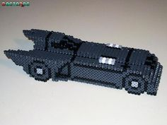 Perler Bead 3D Batmobile by Doctoroc