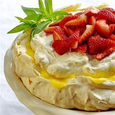 Strawberry Lemon Pavlova