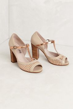 T straps from Anthropologie - big fan of neutral colours this season