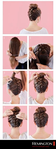 Check out our collection of easy hairstyles step by step diy. You will get hairs. - - Check out our collection of easy hairstyles step by step diy. You will get hairstyles step by step tutorials, easy hairstyles quick lazy girl hair hac. Braided Top Knots, Top Braid, Top Knot With Braid, Back Braid, Knot Bun, Knotted Braid, Hair Knot, Up Hairstyles, Quick Easy Hairstyles