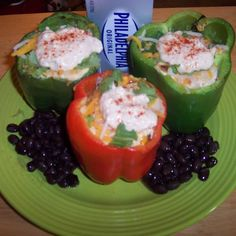 Dad's Stuffed Bell Peppers   Recipe   Dads, Ground Beef and Ground ...