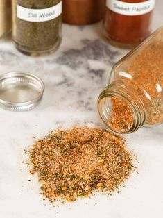 This all-purpose blend of salt, spices and herbs is versatile enough to use on a wide variety of foods including roasted vegetables, meats, potatoes and salads. All-Purpose Seasoning Blend Aimee Smith aimeemcsmith Yummy! Homemade Spice Blends, Homemade Spices, Homemade Seasonings, Spice Mixes, Weed, Sauces, Vegetable Seasoning, Seasoning For Roasted Vegetables, Veggie Seasoning Recipe