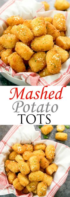 Mashed Potato Tots. A great use for leftover mashed potatoes! #mashedpotatoes #thanksgiving #thanksgivingsides #tatertots
