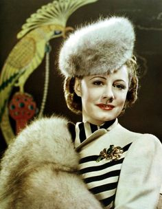 Irene Dunne in costume from My Favorite Wife. --- Love the brooch!