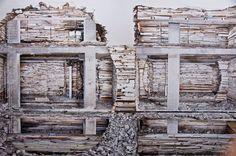 Arte y Arquitectura: El trabajo en muros abandonados de Marjan Teeuwen © Happy Famous Artists