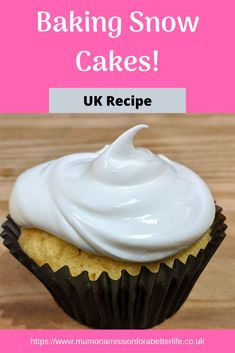 UK recipe for orange flavoured snow cakes. Really easy and super tasty too! Snow Cake, Uk Recipes, Baking With Kids, Xmas Food, Orange Recipes, Food Cakes, Fun Cooking, Cupcake Recipes, Better Life