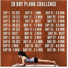 Plank challenge - If you are already doing a challenge this month, keep this in mind for the next!