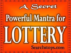 Lottery Mantra - Goddess Lakshmi Mantra for Winning Lottery - YouTube