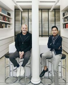 """Yabu Pushelberg's Instagram profile post: """"""""Glenn Pushelberg and George Yabu talk about the importance of emotive spaces, creating movie scripts for each project and why innkeeping…"""""""