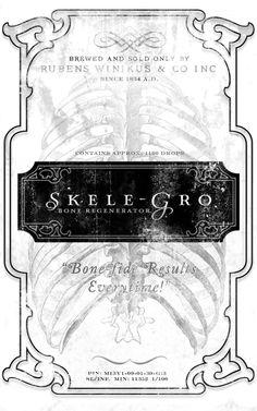 Skele-Gro Harry Potter potion labels