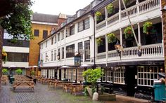 The Tabard Inn (now the George Inn) wasthe 14th-century coaching inn that Geoffrey Chaucer made the starting point for his most famous work of literature – The Canterbury Tales
