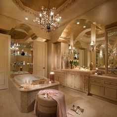 Angels would sing when you open the doors to this bathroom
