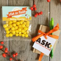 2017 LDS New Beginnings - Ask of God, Ask of Faith - ASK Acquire Spiritual Knowledge - Cute Decorations and gift ideas for Young Women