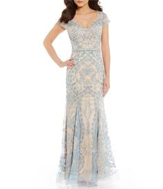 60a457d44e8 Mon Cheri Ivonne D V Neck Beaded Mermaid Gown