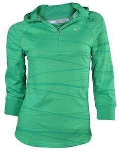 Nike Women's Soft Hand Running Dri-Fit Hoodie-Green-Medium: Clothing