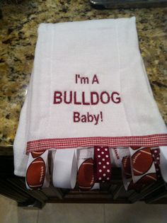 Mississippi State Bulldog Burp cloth