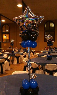 Check out the link to find out more quinceanera party center pieces – Help make your floral arrangements more technical by using centerpieces of varyi… - New Site Balloon Arrangements, Balloon Centerpieces, Centerpiece Decorations, Balloon Decorations, Floral Arrangements, Balloon Ideas, Graduation Balloons, Graduation Decorations, Birthday Decorations