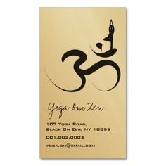 Elegant Mandala Namaste Yoga Coral Business Card