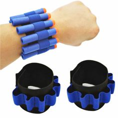 Dart Ammo Storage Wrist Belt Band Strap for Nerf N-strike Blaster Stunning Nerf Birthday Party, Boy Birthday, Nerf Vest, Arma Nerf, Nerf Cake, Pistola Nerf, Nerf Storage, Cool Nerf Guns, Nerf Darts