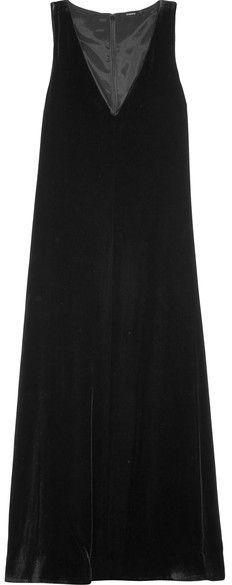 Velvet Midi Dress - Black Theory Prices Cheap Price Cheap Real Finishline Cheap Sale Release Dates Discount Authentic fKvoGk
