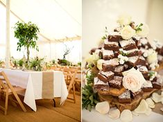 Marina & James | Woodland Wedding from Caught the Light  Brownie Tower...cool idea!