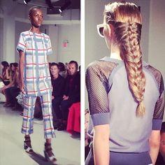 #hairstyle #trenzas #MBFW #TRESemmé by @elle