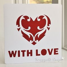 Flourish heart card cutting file by Alaa Studio   card by Scrappycath, via Flickr