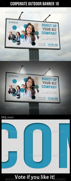 Corporate Outdoor Banner 10  #GraphicRiver         Highly editable PSD outdoor banner, very easily customise to make it your own in seconds!  The Pack included:   PSD file  High Quality and Details  Easy to Customise  CMYK, 150 dpi  120×60 in  Print: 122×62 in  Bleed 1 inch (all side)  18300×9300 px  Print Ready  Smart object placeholder  Editable shape Logo included  Preview Image not included  Read me file (included instrucions)   Fonts Required:   Myriad –…