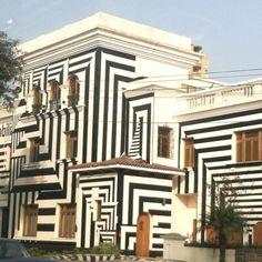 A funky building in Lima, Peru