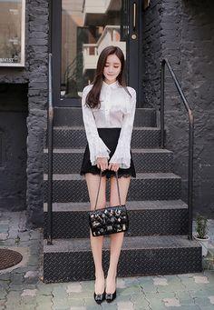 itsukadokoka:  (via Hello Venus lace skirt pants - BABI N PUMKIN: Shop Korean clothing, bags for women)