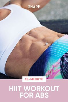 Get ready to blast off belly fat with this 15-minute HIIT workout circuit that combines fat-scorching cardio intervals with standing core exercises that do double duty as your active recovery. #abworkouts #hiit #cardio