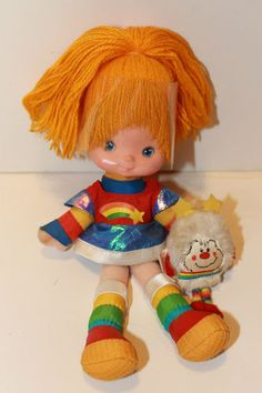 Vintage Rainbow Brite Bright Doll with Twink
