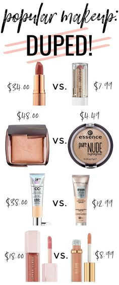Testing Popular High End Makeup Dupes! It Cosmetics CC Cream Dupe? - Popular makeup dupes: Charlotte Tilbury dupes, Hourglass dupes, Fenty dupes, It Cosmetics dupes! Best Drugstore Lipstick, Mac Lipstick Dupes, Mac Dupes, Dupe Makeup, Eyeshadow Dupes, Airbrush Makeup, It Cosmetics Cc Cream, Nyx Cosmetics, Mac Velvet Teddy