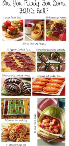 Superbowl / Gameday / Football food creations