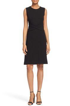 Image of Diane von Furstenberg Evita Sleeveless Ponte Fit & Flare Dress