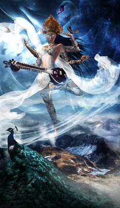 Saraswati, Goddess of Knowledge, Wisdom, Art and Mother of Poetry