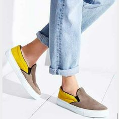 Brand New A.M.B Slip on leather colorblock Sneaker New without box Ambassadors of Minimalism Slip on leather colorblock Sneaker A.M.B Shoes Sneakers