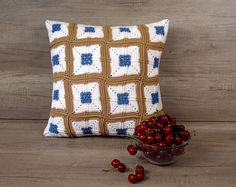 Check out this item in my Etsy shop https://www.etsy.com/listing/474387577/cool-crochet-cushion-cover-granny-square