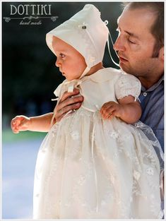 Silk and Lace Christening Gown Baptism Dress Baptism Gown