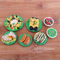 Barbie 1:6 Kitchen Food Miniature Handmade Box of Cheese Enchiladas