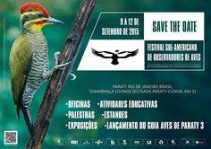 De 9 a 12 de setembro acontece em Paraty o Festival Sul-americano de Observadores de Aves, no meio da Mata Atlântica, com toda sua exuberância, história, cultura e diversidade de avifauna. O evento, que conta com o apoio da Prefeitura de Paraty e é realizado pela Associação Cairuçu, com patrocínio do Instituto São Fernando, promove a educação ambiental e o turismo de observação de aves. #AvesDeParaty #ObservadorDeAves #AvesParaty #FestivalDeAves #Fauna #natureza #cultura #turismo #arte
