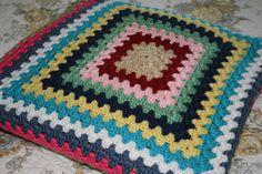 Bohemian Granny Square Throw Blanket by HuggableCrochet on Etsy, $50.00