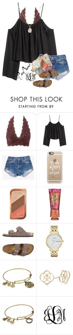 """""""just went zip lining"""" by ellaswiftie13 ❤ liked on Polyvore featuring Charlotte Russe, Casetify, Rimmel, Hoola, Birkenstock, Kate Spade, Alex and Ani, Kendra Scott and Harold's"""