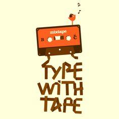 Camiseta 'Type With Tape'. http://cami.st/p/1121