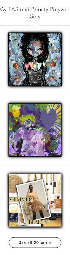 """My TAS and Beauty Polyvore Sets"" by crochetragrug ❤ liked on Polyvore featuring art, beauty, Burberry, NARS Cosmetics, Michael Kors, Estée Lauder, Hampton Sun, Smith & Cult, Tory Burch and Yves Saint Laurent"