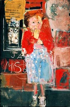 Little Girl with a Squint by Joan Kathleen Harding Eardley Oil collage on canvas, x cm Collection: Dumfries and Galloway Council (Gracefield) Aberdeen Art Gallery, Art Brut, Desenho Tattoo, Your Paintings, Artwork Paintings, Face Paintings, Abstract Paintings, Abstract Art, Oeuvre D'art