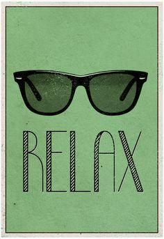 Relax Retro Sunglasses Art Poster Print Poster at AllPosters.com