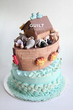 Noah's Ark - by guiltdesserts @ CakesDecor.com - cake decorating website